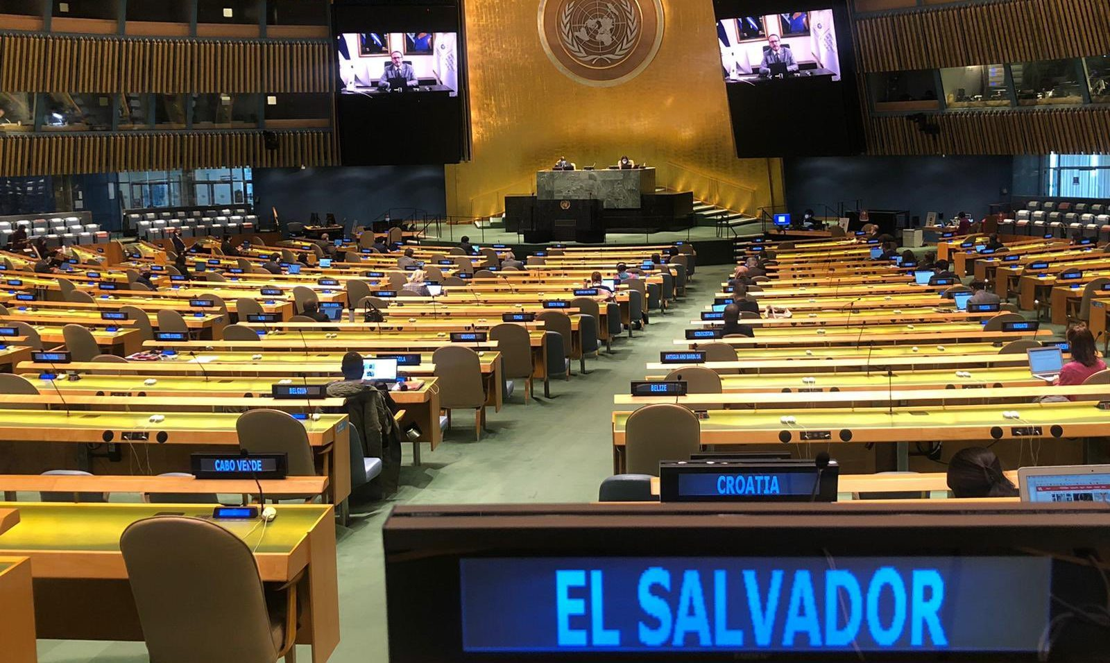 Ministro Gustavo Villatoro destaca logros del Plan Control Territorial ante Naciones Unidas